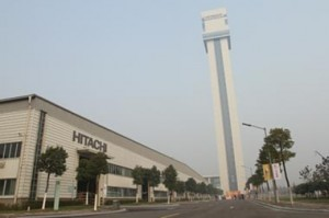 hitachi testing tower in China